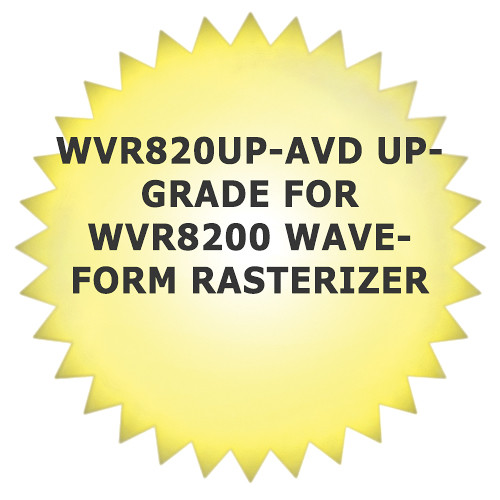 Tektronix WVR820UP-AVD Upgrade for WVR8200 Waveform Rasterizer