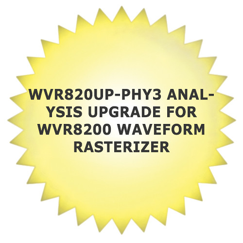 Tektronix WVR820UP-PHY3 Analysis Upgrade for WVR8200 Waveform Rasterizer