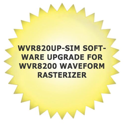 Tektronix WVR820UP-SIM Software Upgrade for WVR8200 Waveform Rasterizer