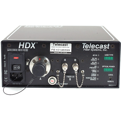 Telecast Fiber Systems HDX SMPTE Hybrid Elimination Adapter Device with Power Supply for Hitachi Camera