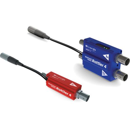 Telecast Fiber Systems Rattler 4 Miniature Single Link Transmitter and Receiver over Fiber Kit