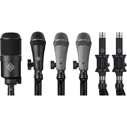 Telefunken DC6 Condenser & Dynamic Microphone System for Drum Kits (6 Mics)