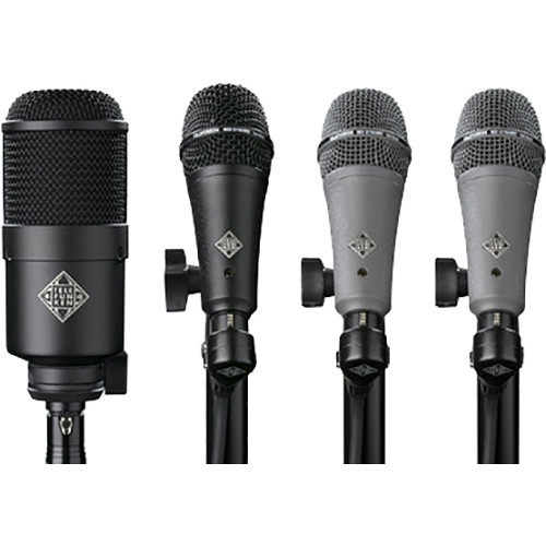 Telefunken DD4 Dynamic Microphone System for Drum Kits (4 Mics)