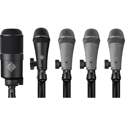 Telefunken DD5 Dynamic Microphone System for Drum Kits (5 Mics)