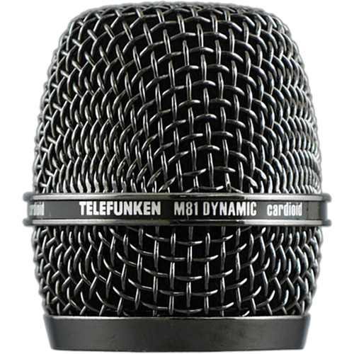 Telefunken HD03 Replacement Head Grille for M81 Microphone (Black Nickel)