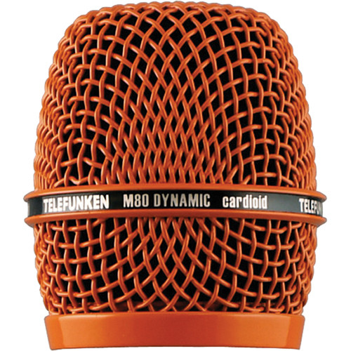 Telefunken HD03 Head Grille for M80 or M81 Microphone (Orange)