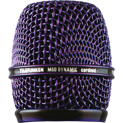 Telefunken HD03 Replacement Head Grille for M80 / M81 Microphone (Purple)
