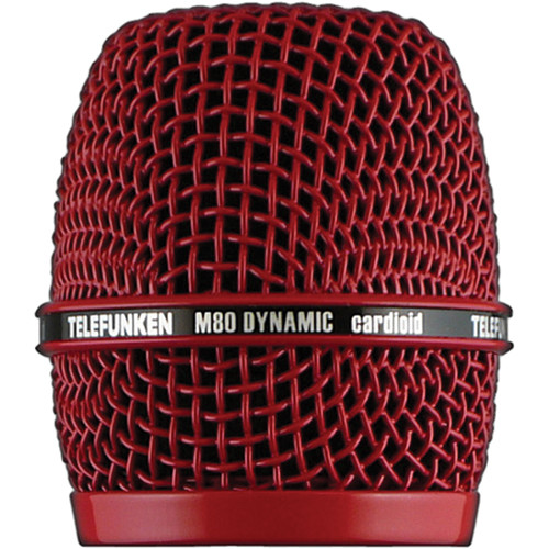 Telefunken HD03 Replacement Head Grille for M80 / M81 Microphone (Red)