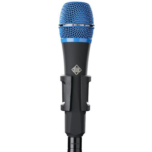 Telefunken M80 Custom Handheld Supercardioid Dynamic Microphone (Black Body, Blue Grille)