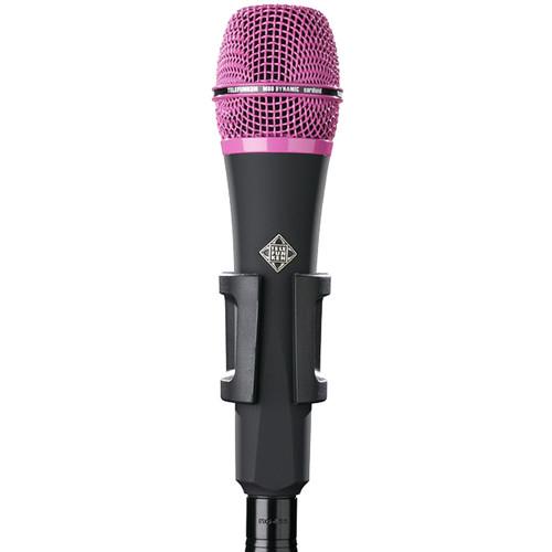 Telefunken M80 Custom Handheld Supercardioid Dynamic Microphone (Black Body, Pink Grille)