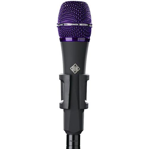 Telefunken M80 Custom Handheld Supercardioid Dynamic Microphone (Black Body, Purple Grille)