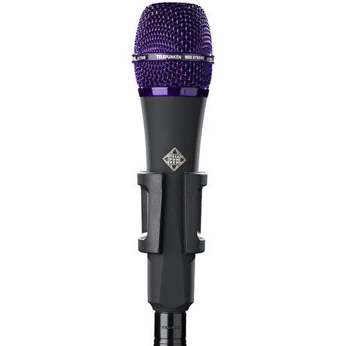 Telefunken M80 Custom Handheld Supercardioid Dynamic Microphone (Black Body, Purple Grille)