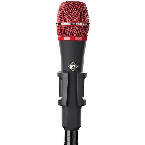 Telefunken M80 Custom Handheld Supercardioid Dynamic Microphone (Black Body, Red Grille)