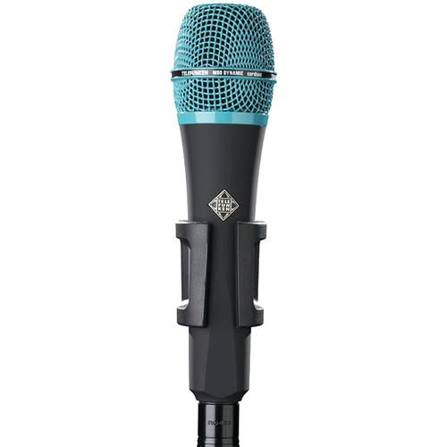 Telefunken M80 Custom Handheld Supercardioid Dynamic Microphone (Black Body, Turquoise Grille)