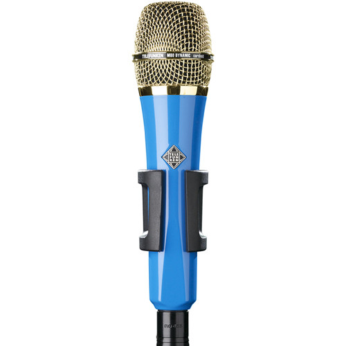 Telefunken M80 Custom Handheld Supercardioid Dynamic Microphone (Blue Body, Gold Grille)