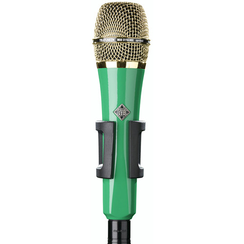 Telefunken M80 Custom Handheld Supercardioid Dynamic Microphone (Green Body, Gold Grille)