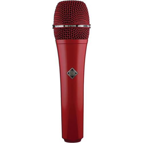 Telefunken M80 Custom Handheld Supercardioid Dynamic Microphone (Red Body, Red Grille)