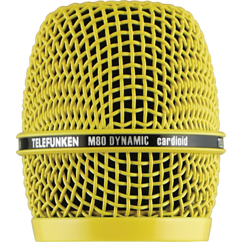 Telefunken Replacement Grill for the Telefunken M80 Dynamic Microphone (Yellow)