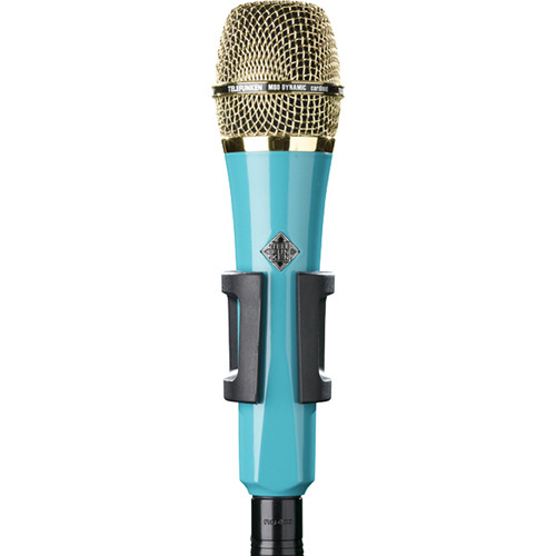 Telefunken M80 Custom Handheld Supercardioid Dynamic Microphone (Turquoise Body, Gold Grille)