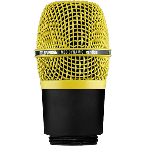 Telefunken M80-WH Wireless Supercardioid Dynamic Microphone Capsule (Yellow)