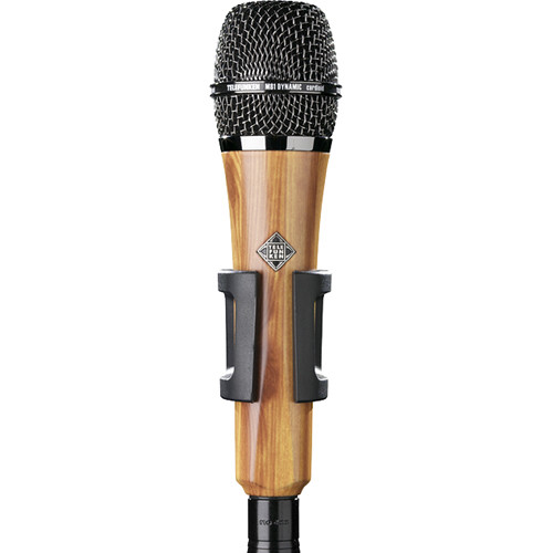 Telefunken M81 Custom Handheld Supercardioid Dynamic Microphone (Oak Wood Body, Chrome Grille)