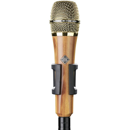 Telefunken M81 Custom Handheld Supercardioid Dynamic Microphone (Oak Wood Body, Gold Grille)