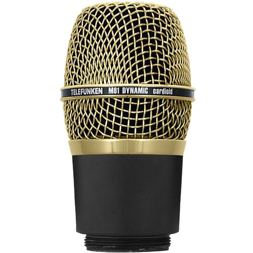 Telefunken M81-WH Wireless Supercardioid Universal Dynamic Microphone Capsule (Gold)
