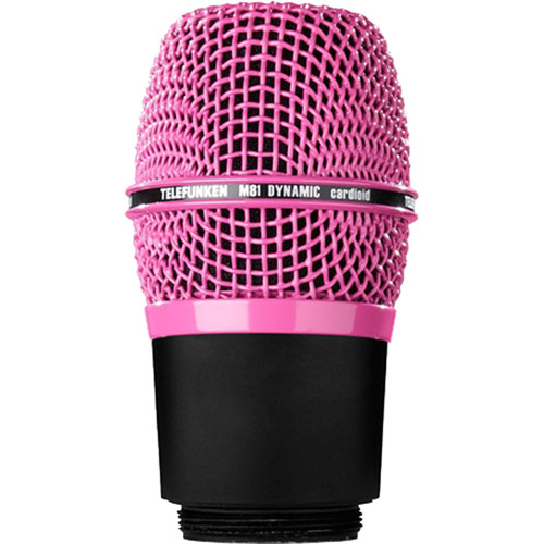 Telefunken M81-WH Wireless Supercardioid Universal Dynamic Microphone Capsule (Pink)
