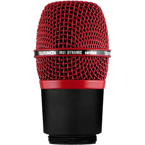 Telefunken M81-WH Wireless Supercardioid Universal Dynamic Microphone Capsule (Red)