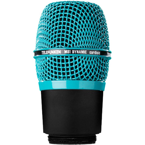 Telefunken M81-WH Wireless Supercardioid Universal Dynamic Microphone Capsule (Turquoise)