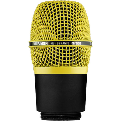 Telefunken M81-WH Wireless Supercardioid Universal Dynamic Microphone Capsule (Yellow)