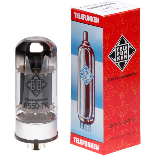 Telefunken 6550-TK Black Diamond Series Vacuum Tubes (Matched Pair)