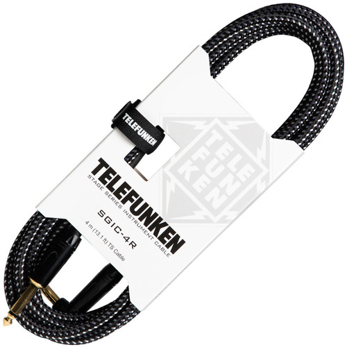"""Telefunken SGIC-4R Right-Angle 1/4"""" TS to 1/4"""" TS Instrument Cable (13.1')"""