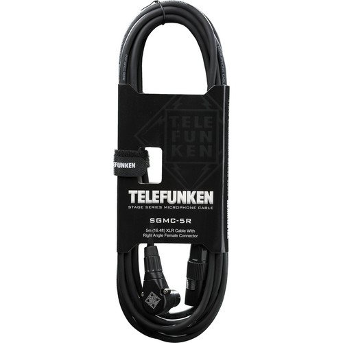Telefunken SGMC-5R Stage Series Microphone Cable with 90° Right Angle Female XLR Connectors (16.2')