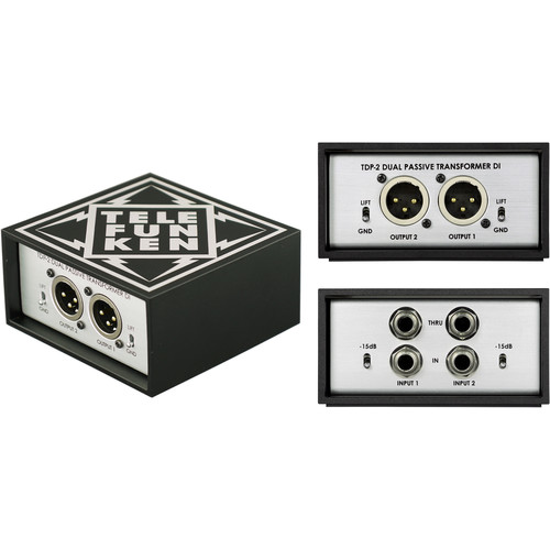 Telefunken TD-2 Dual-Channel Passive Direct Box