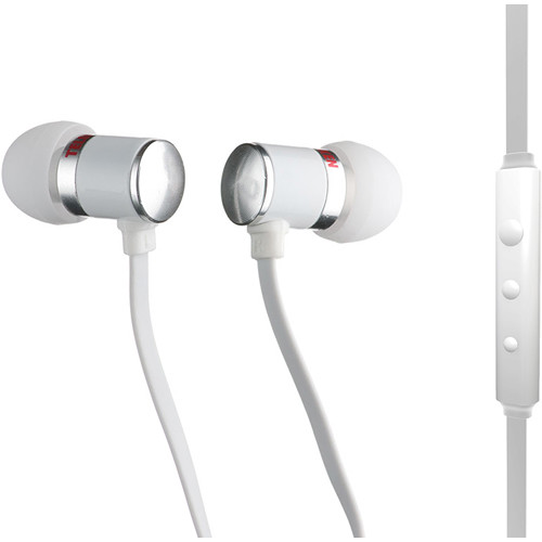 Telefunken TH-100wi Noise Isolating Earphones (White, In-Line Microphone and Remote Control)