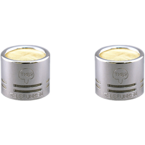 Telefunken TK62-S Small-Diaphragm Hypercardioid Capsules for ELA M 260 or M60 FET Microphones (Matched Pair)