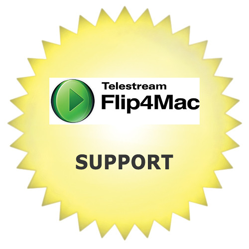 Telestream Premium Support for Flip4Mac (First Year)