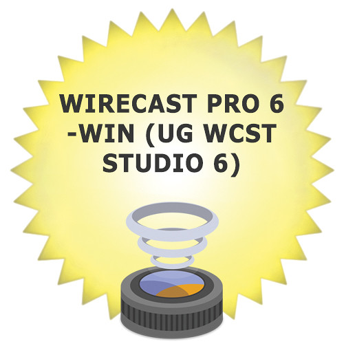 Telestream Wirecast Pro 6 Upgrade from Wirecast Studio 6 for Windows (Download)