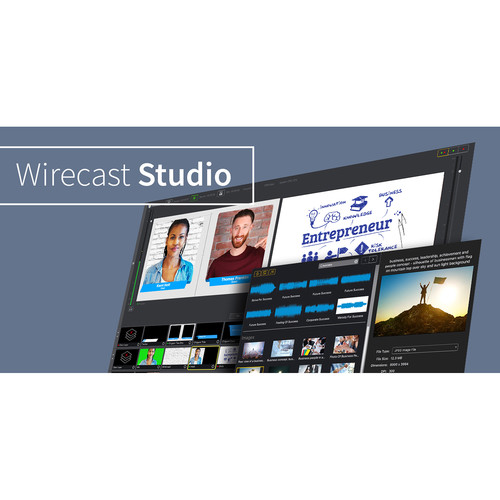 Telestream Wirecast Studio for Windows (Upgrade from Wirecast One to Studio)