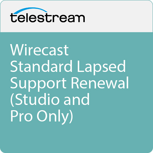 Telestream Wirecast Standard Lapsed Support Renewal (Studio and Pro Only)