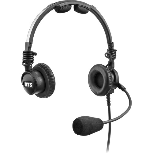 Telex LH-302 Lightweight RTS Double-Sided Broadcast Headset (XLR 5-Pin Male Connector, Dynamic Microphone)
