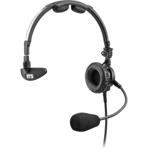 Telex LH-300 Lightweight RTS Single-Sided Broadcast Headset (Pigtail Termination, Dynamic Microphone)