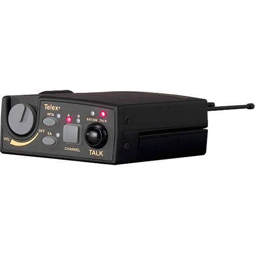 Telex TR-800 UHF 2-Channel Wireless Beltpack Transceiver: A4M Headset Jack / Channel A3: 518-536MHz