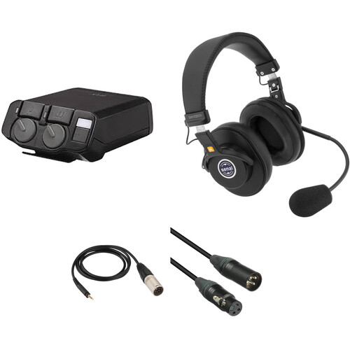 Telex RTS 2-Channel Portable Beltpack Communications Kit with Dual-Sided Headset