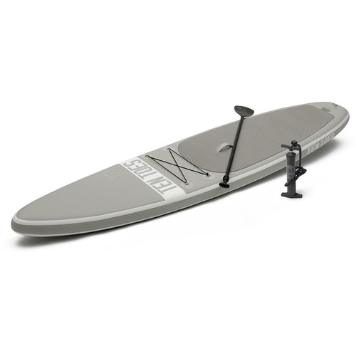 Ten Toes Board Emporium Globetrotter 12' Inflatable Touring Stand-Up Paddleboard (Gray)