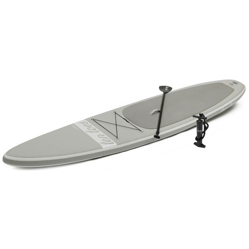 Ten Toes Board Emporium Jetsetter 14' Inflatable Touring Stand-Up Paddleboard (Gray)