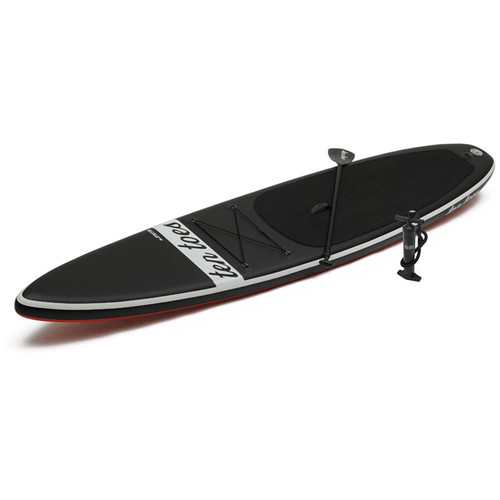 Ten Toes Board Emporium Jetsetter 14' Inflatable Touring Stand-Up Paddleboard (Black/Red)