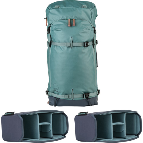 Shimoda Designs Explore 60 Backpack Starter Kit with 2 Small Core Units (Sea Pine)