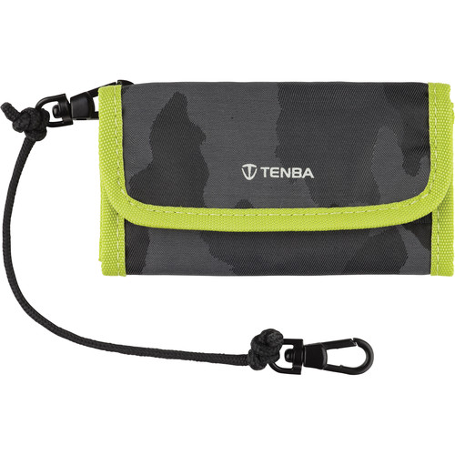 Tenba Reload CF 6 Card Wallet (Camouflage/Lime)